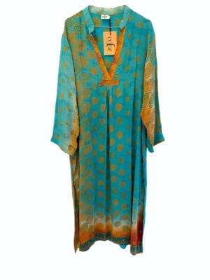 Vintage sarisilk Goa maxidress Soleil XL