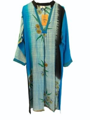 Vintage sarisilk Goa maxidress Oriental XL