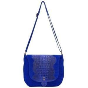 Crossover Croco bag cobalto