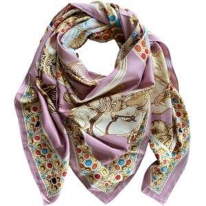 Big Silk scarf Rose