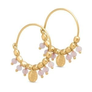 Creol earring gold Rose