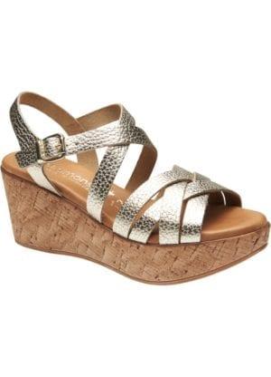 Marga sandal wedges Platin Gold