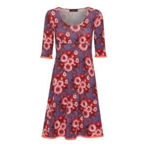 Yvette Dress Coral flowers