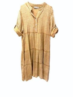 Sally dress Cotton Camel