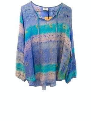 Jaipur shirt sarisilk pastels M/L