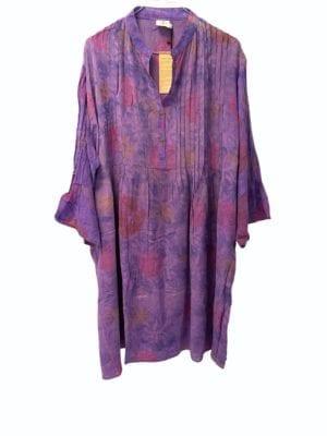 Vintage sarisilk City dress Purple 2XL