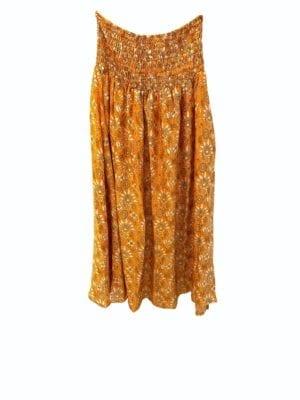 Vintagesarisilk Skirt Orange satin Onesize