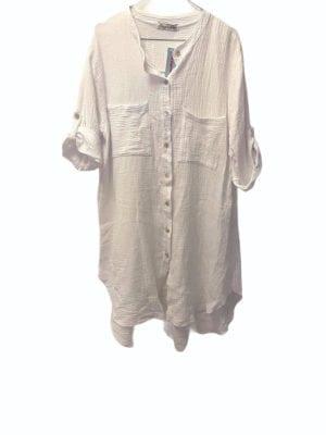 Sally Shirt dress Cotton White
