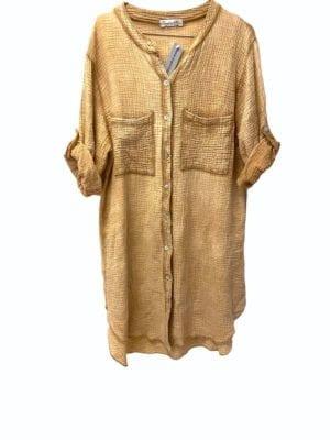 Sally Shirt dress Cotton Camel