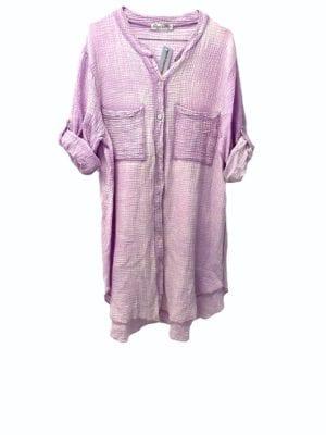 Sally Shirt dress Cotton Lavender