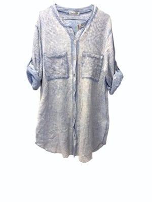 Sally Shirt dress Cotton Blue