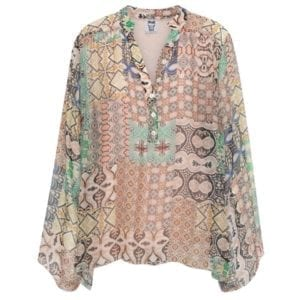 Silk blouse Pastels Onesize