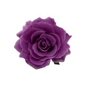 Rose hairclip/pin Purple