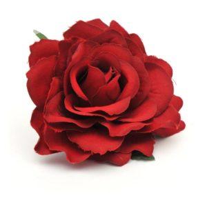 Rose hairclip/pin dark red