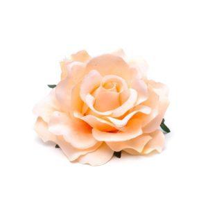 Rose hairclip/pin Creme