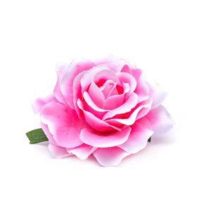 Rose hairclip/pin pink