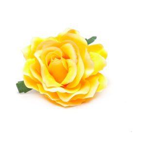 Rose hairclip/pin Yellow