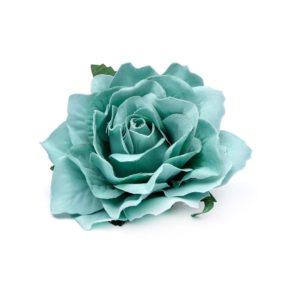 Rose hairclip/pin Creme Blue