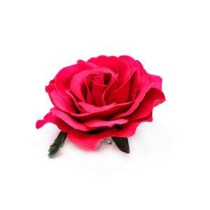 Rose hairclip/pin Fushia