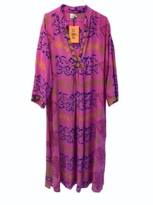 Vintage sarisilk Goa maxidress Purple M/L