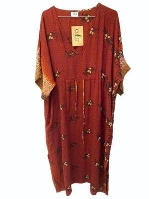 Vintage sarisilk Pernille dress Brown Onesize