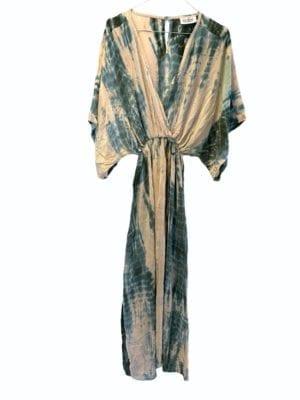 Vintage sarisilk Bali maxidress Havgus dipdye M/L