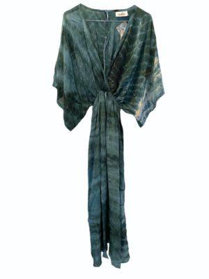 Vintage sarisilk Bali maxidress Atlantic dipdye M/L