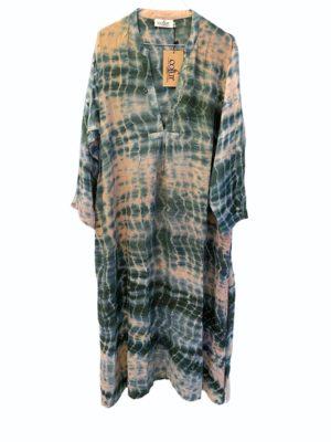 Vintage sarisilk Goa maxidress Havgus dipdye XL
