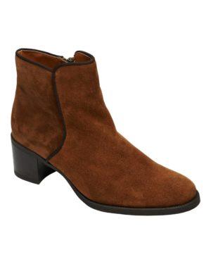 Iris Boots Suede Cognac