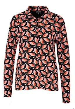 Shirt blouse Black Leaf