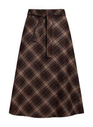 A-Line skirt brown checks