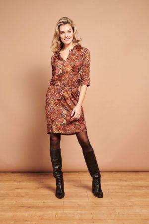 Dress Cognac Paisley 21737