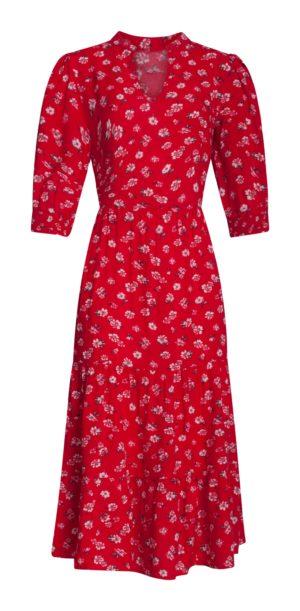 Dress Red Vintage Fleur 21230