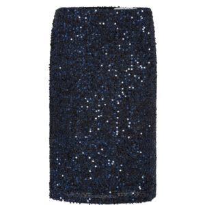 Sequin Skirt pensil, Navy blue