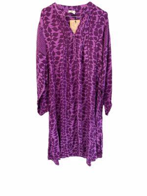 Vintage sarisilk City shirtdress Purple XL