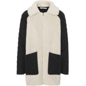 Teddy jacket Black / White