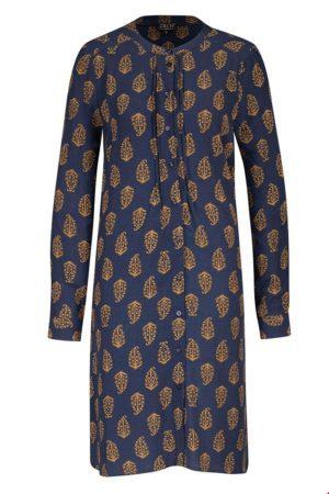 Button dress Navy paisley