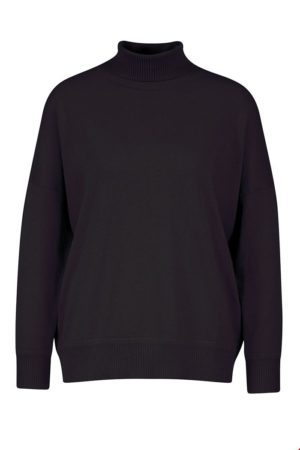 Wool/Cotton Sweater wide Black