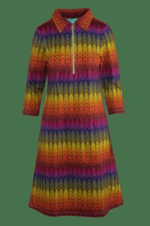 Dress Zipper Leaf rainbow 2120