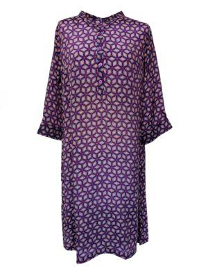 Jennifer dress silk Purple Grafic