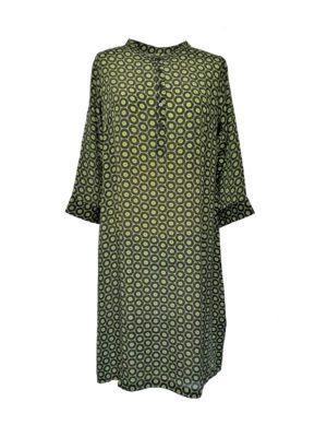 Jennifer dress silk Green Grafic