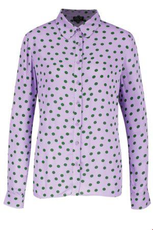 Shirt blouse Polkadot Lavender