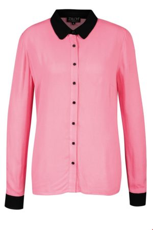 Shirt blouse Black/bubblegum