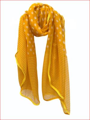 Tørklæde yellow Dots