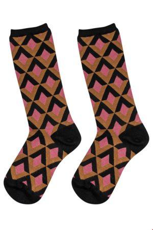 Bamboo socks Triangle Blush