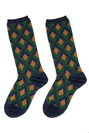 Bamboo socks Triangle Navy