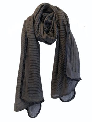 Tørklæde Grey Stripe