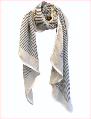 Tørklæde Cream Stripe