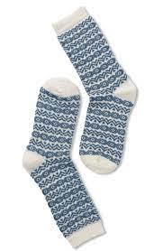 Wool socks Blue