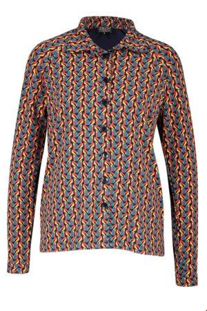 Shirt blouse Grafic Petrol